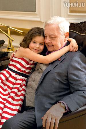 Олег Табаков с дочкой Машей