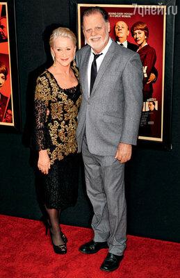 С мужем Тэйлором Хэкфордом на премьере «Хичкока» в Нью-Йорке. Ноябрь 2012 г.