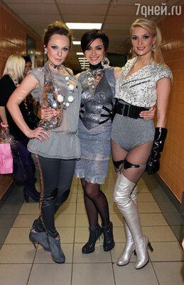 Надежда Мейхер-Грановская,  Альбина Джанабаева и Татьяна Котова «Мисс Россия 2006»