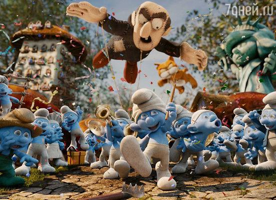 Кадр из мультфильма «Смурфики»