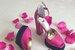 Розовые босоножки на устойчивом каблуке