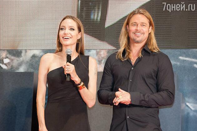 Анджелина Джоли и Брэд Питт, 2013 год