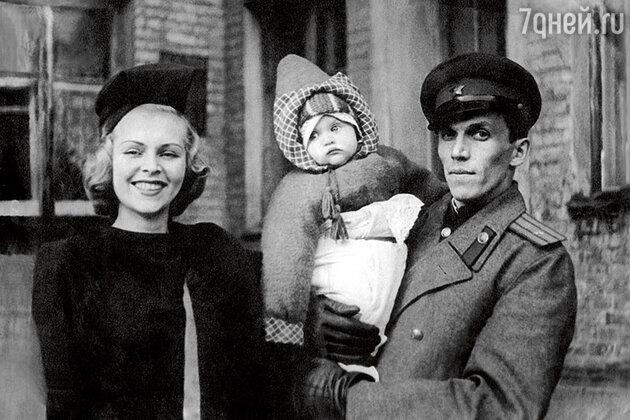 Елена Метелкина с родителями