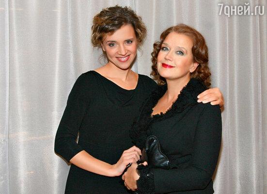 С мамой Ириной Алферовой