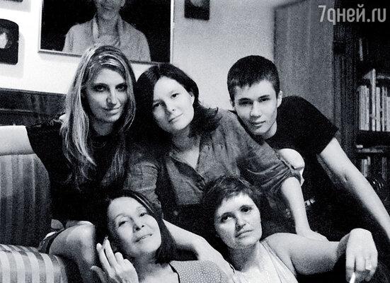 Я и наши дети: Саня, Аглая, Алеша и Дуня