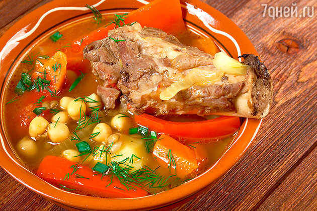 Чорба из баранины по-алжирски
