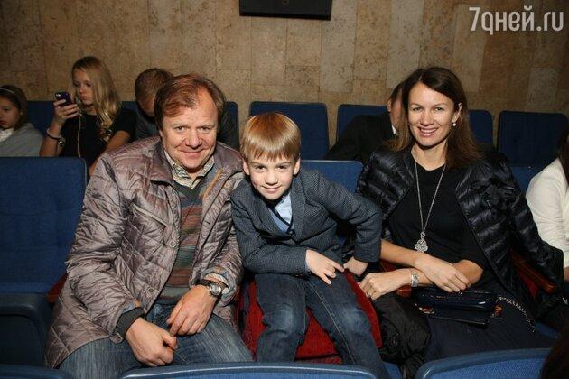 Игорь Бутман с бывшей супругой Оксаной и их сыном Марком