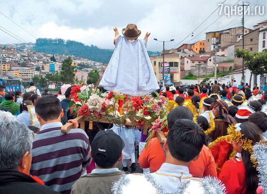 В Эквадоре принято сжигать чучело Старого года