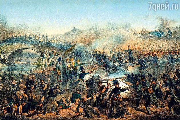 Фото репродукции картины «Битва на Черной реке 16 августа 1855»