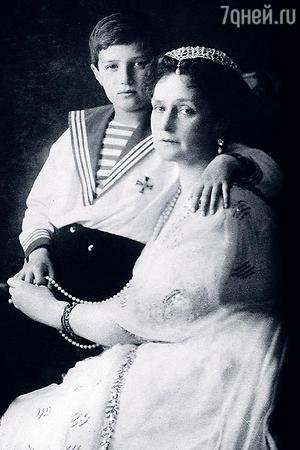 Александра Федоровна и Алексей Романовы
