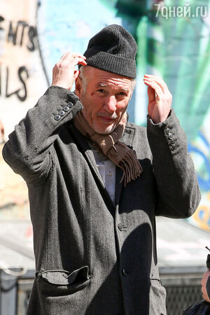 Ричард Гир на съемках нового фильма
