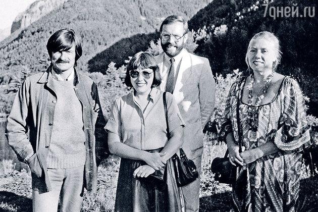 Андрей Тарковский, Ольга Суркова, Кшиштоф Занусси и Лариса Кизилова