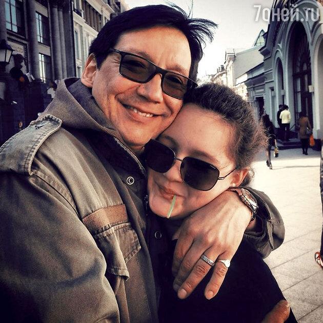 Егор Кончаловский с дочкой Машей