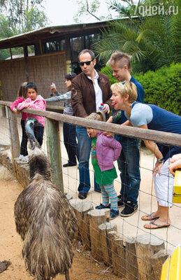 Михаил, Татьяна, Степан и Антонина в зоопарке Тель-Авива