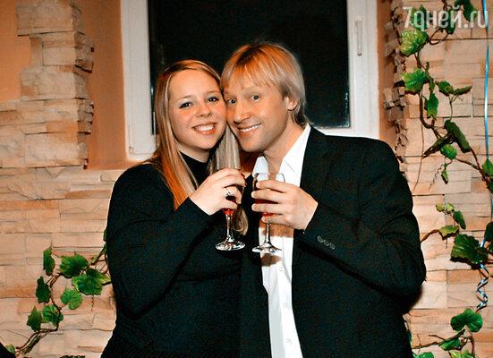 С дочерью от первого брака Сашей. 21 января 2005 г.