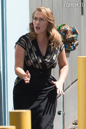 Кейт Уинслет на съемках фильма «Портниха»