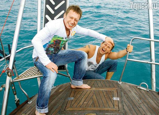 Из-за резко испортившейся погоды актеры так и не отважились искупаться в Черном море
