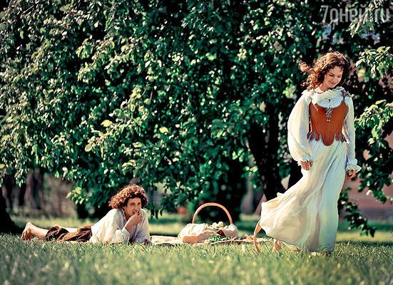 Риналь Мухаметов и Анна Старшенбаум на съемках фильма «Три мушкетера»