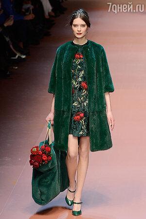 Модель показа Dolce & Gabbana