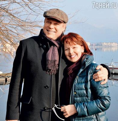 С женой Верой наозере Лугано, Италия