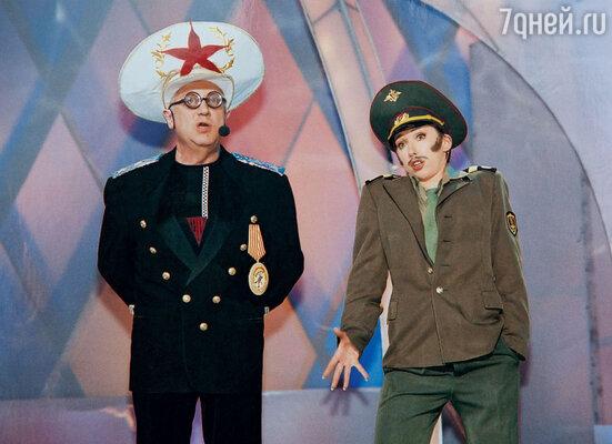 С Владимиром Винокуром вконцерте Театра пародий. 2007 г.