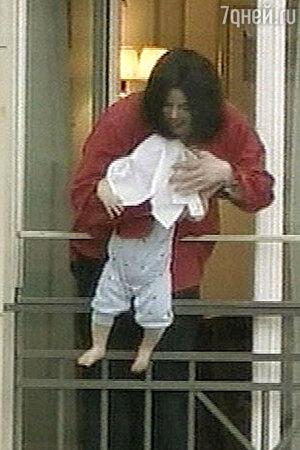 Майкл Джексон с сыном