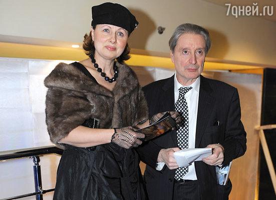 Актер Вениамин Смехов с супругой Галиной Аксеновой