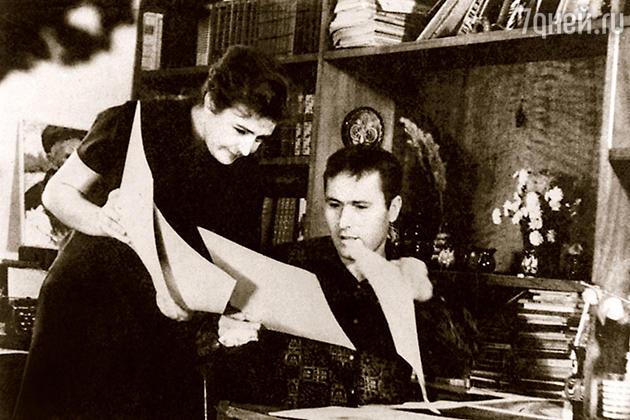 Василий Шукшин с женой