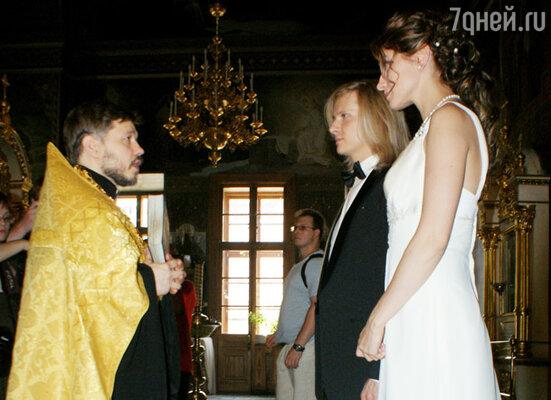 Анастасия Макеева и Глеб Матвейчук в Свято-Даниловском монастыре