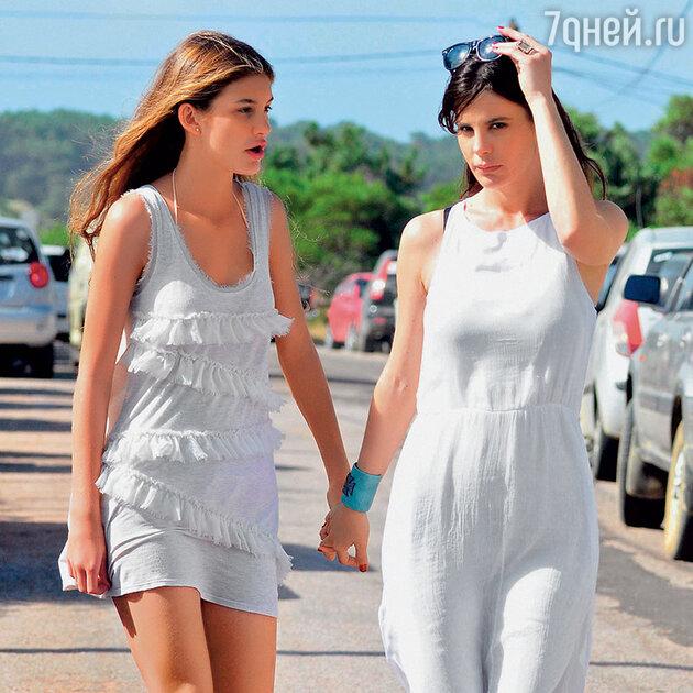 Лусила Полак с дочерью