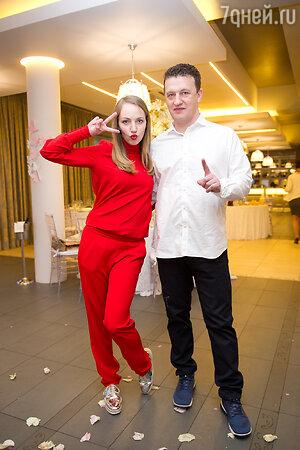 Галина Боб с мужем Сергеем Корягиным