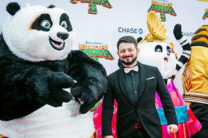 Михаил Галустян подружился с Дастином Хоффманом на премьере новой «Кунг-фу Панды»