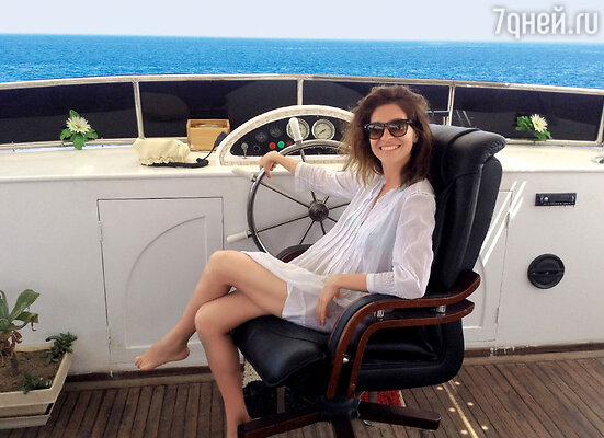 Елена Подкаминская наяхте в Красном море