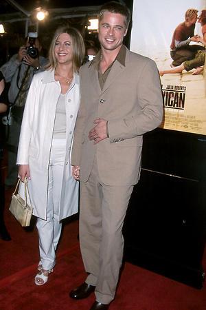 Брэд Питт и Дженнифер Энистон. 2002 г.