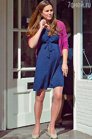 Беременная первенцем герцогиня Кембриджская в платье Asos за 17 фунтов