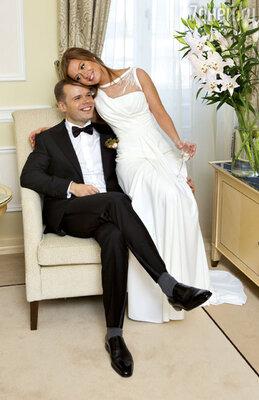 Для первой брачной ночи молодожены выбрали «Панорамный» люкс отеля «Балчуг Кемпински Москва»