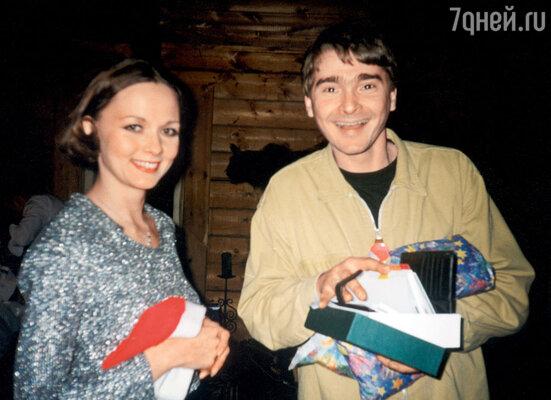 Дарья с бывшим мужем Александром Жигалкиным. 1999 г.