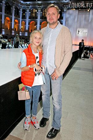 Артём Михалков с дочерью Наташей