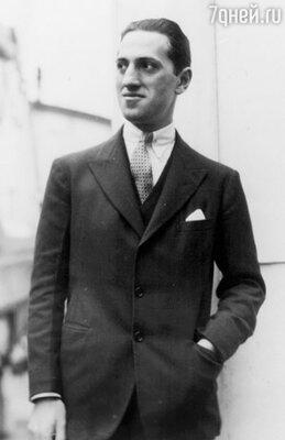 Джордж Гершвин, высокий — не в отца, «с фигурой атлета и руками бога» — так писали о нем газеты, 1919 г.