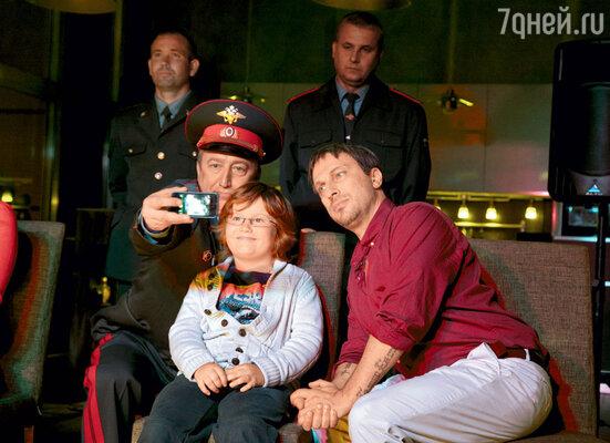 Нагиев с юным Ильей Костюковым. Мальчик играет внука главного героя
