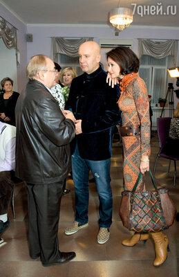 Всеволод Шиловский и Ольга Кабо с мужем Николаем Разгуляевым