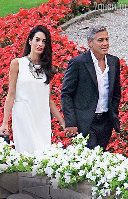 Джордж Клуни с невестой Амаль Аламуддин