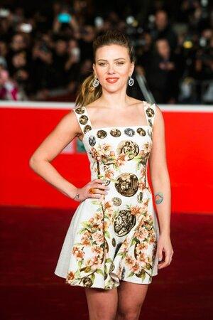 Скарлетт Йоханссон в платье от Dolce&Gabbana представила свой новый фильм «Она» на 8-м ежегодном кинофестивале в Риме 2013