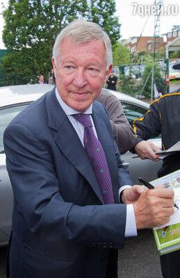 Главный тренер команды «Манчестер Юнайтед» легендарный Алекс Фергюсон