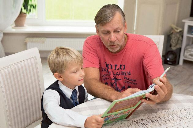 Виктор Раков с сыном Даней