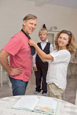Виктор Раковс женой Людмилой и сыном Даней