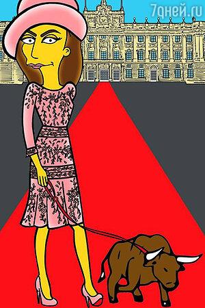 Испанская королева Летиция превратилась в персонажа мультипликационного сериала «Симпсоны»