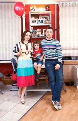 С мужем Валерием и сыном Лукой