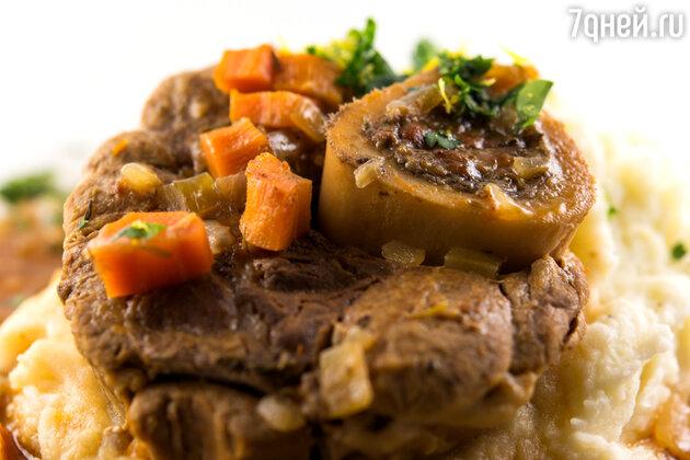«Оссобуко» от шеф-повара ресторана «Река» Мишеля Ломбарди