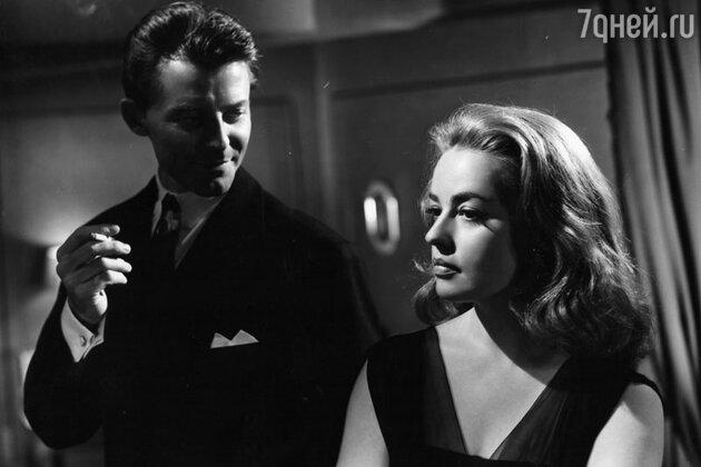 Жерар Филип и Жанна Моро в фильме «Опасные связи».  1959 г.